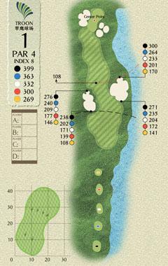 广东珠海金湾高尔夫球场球道图高清图片